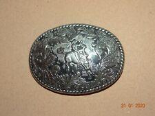 Belt Buckle Bronc Riding Rodeo Horse Western Cowboy