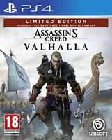 ASSASSIN'S CREED VALHALLA LIMITED EDITION PREORDER PLAYSTATION 4 HOLIDAY 2020