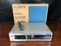Sony TC-FX705 Cassette Player Recorder Deck Dolby Vintage Japan w/ Original Box
