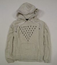 Womens NEW American Eagle Popover Oatmeal Graphic Hoodie Sweatshirt XL X-Large