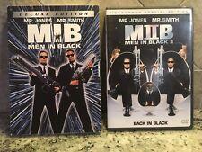 Men In Black 1 & 2 Dvd movie Lot starring Will Smith, Tommy Lee Jones Pg-13 Mib