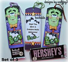 Halloween Candy Wrapper Premade paper piecing scrapbook diecut piece page 3D Art