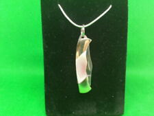 "Necklace Pink MOP Miniature Knife 1-1/2"" Silver Plated 24"" Chain & Gift Box"
