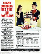 PUBLICITE ADVERTISING  026  1963   Concours des vins du Postillon