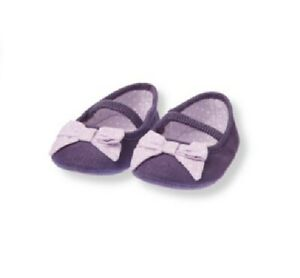 Janie And Jack NWT Frosty Owl Layette Purple Corduroy Shoes Size 1 New In Bag