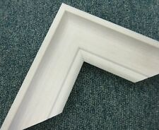 3.8m bundle (4x95cm) of 55mm White Washed Polcore Picture Frame Moulding