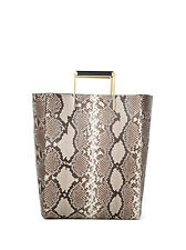 New! Retail $2,195 Jason Wu Suvi Genuine Python Shopper Tote Bag
