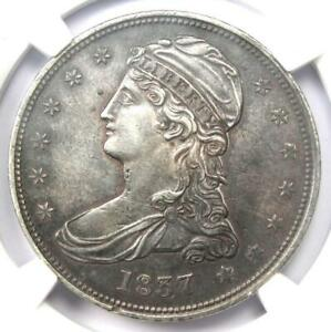1837 Capped Bust Half Dollar 50C - Certified NGC AU Details - Rare Coin!