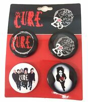 Cure Great Circle Tour 2013 4 Piece Pin Button Set New Official Robert Smith