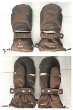 Bliss Instinct XCR Level Brown Mittens Winter Gloves Brown Leather Trim SZ 8 M