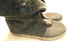 Etnies Gray Lined Boots Shoes Womens Size 9