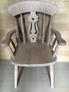 Brand New Farmhouse Carver Fiddle Chairs, Unfinished In Solid Beech.