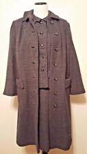 Vintage 1960's Walking Suit & Over Coat 3 Piece Wool Gorgeous!