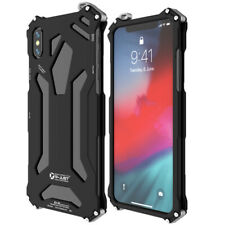 R-JUST Luxury Case for iPhone XS Max Aluminum Metal Heavy Duty Armor Cover C9G4