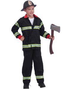 Collared Fireman Boys Costume