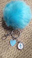 NIB Betsey Johnson Trolls Pocket CHARM Faux-Fur Pom Pom Keychain Watch 23mm NEW