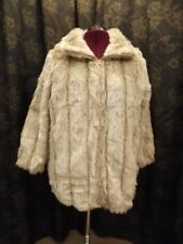 Roamans NEW Sporty Plush Wolf Coyote Faux Fur Coat Zipper Closure 22/24 (1X)