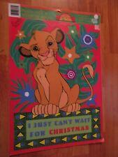 Lion King Christmas Presto-Stick Window Decor Vintage Eureka Made in USA
