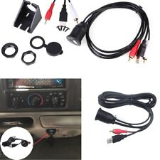 AUX EXTENSION Male to Female Cable Dash Flush Mount USB Port 3.5mm For Car Boat