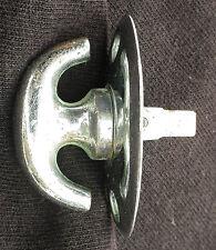 9avail Clean Antique Vintage Chrome Brass Door Thumb Turn Knob Doorknob Lock Key