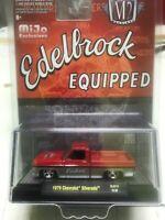 M2 Machines 1973 Chevrolet Silverado Squarebody Edelbrock (Red/Silver) MiJo 1:64