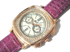 Bling Bling Purple Leather Band Ladies Watch Item 4432