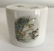 Wedgewood Peter Rabbit Porcelain Money Bank Peter and Sparrows 1991 Warne