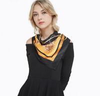 Seide Loop Schal Halstuch Seidentuch 90x90 Schlauchschal Kopftuch Damenschal N1