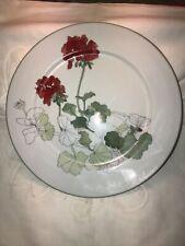 BLOCK SPAL GERANIUM DINNER PLATES ~ PORTUGAL MARY LOU GOERTZEN 10.75