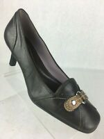 Cole Haan Womens Brown Leather Slip On Loafer Heel Shoes Size 8.5