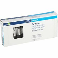 Leviton 15a 120v Acca Standard Switches 10 Pack 1451 2wm