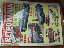 µ? Revue Retromania n°66 Karmann GHIA Simca Vedette Citroen moteur rotatif ...