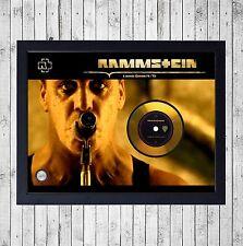 RAMMSTEIN LIEBE IST FUR (1) CUADRO GOLD O PLATINUM CD EDICION LIMITADA. FRAMED