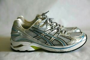 ASICS Gel GT-2140 Duomax Running Shoes, Sneakers, Gray and Blue, Women's Size 9