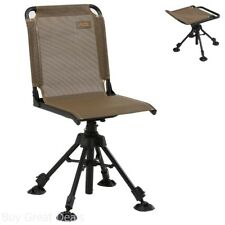 Swivel Hunting Chair With Back Stealth Camping Adjustable Chairs Seat New