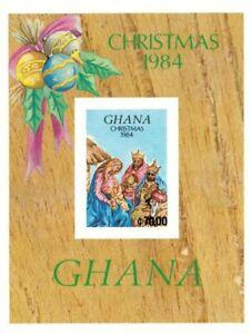 Ghana 1984 - Scott# 957 Christmas, Nativity, Jesus - Imperf Souvenir Sheet - MNH