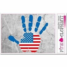 Aufkleber - USA - Hand - Fahne - bumper sticker - car - flag Flagge mano Amerika