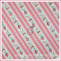 Ticking Stripe Cotton Quilt Fabric by P/&B Red stripe on Ecru