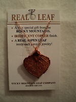 GENUINE ROCKY MOUNTAIN ASPEN LEAF NECKLACE ~ COPPER ~ NEW!!