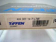 """New Tiffen 4x4"""" Sky 1A Glass Filter Schneider Filters Skylight 1-A #44SKY"""