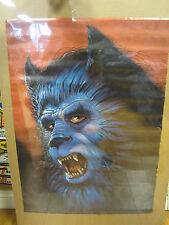 wolf Dog vintage Oginal Poster 1980 10528