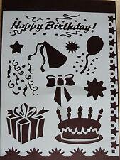Plastica/PVC/Rivestimento/Carta/Stencil/Multi/Torta Di Compleanno/// fiocco/Regalo/balloonstar/NUOVO