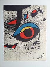 Joan Miro Art Lithograph ( Also Have One With  Stamp)