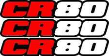 CR80 Swingarm Airbox Number Plate Decals Stickers cr 80 dirtbike graphics