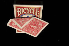 Bicycle Double sided RED Back Deck 56 Playing Cards Classic Magic Trick gaff
