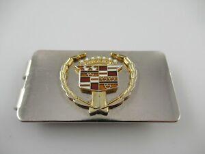 Vintage Cadillac Enamel Emblem Money Clip