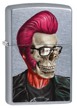 Zippo Lighter ● Rockabilly Skull Profile ● 60002467 ● Neu New OVP ● A92