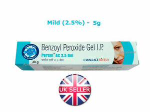 BENZOYL PEROXIDE GEL 2.5% FOR ACNE PIMPLE VULGARIS SPOTS BLACKHEAD TREATMENT UK