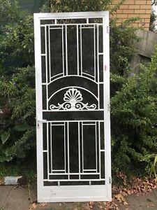 Fly screen door NO KEY 85.9 cms (width) x 217.6 cms (height) x 2 cms (depth)