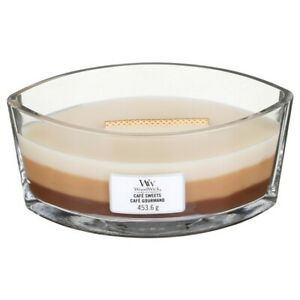 Wood Wick Cafe Sweets Cafe Gourmand COFFEE Trilogy Boat Yankee Candle 16 oz NEW